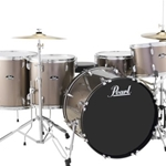 Pearl Roadshow  5pc drumset with Hardware and Cymbals Bronze Metallic (707)